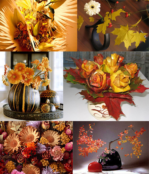 Осенняя экибана